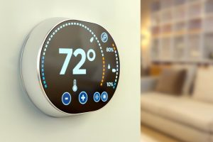 smart-thermostat-on-wall