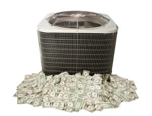 air-conditioner-condenser-unit-sitting-on-pile-of-money